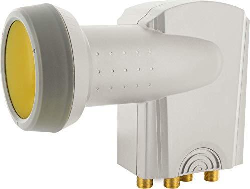 Schwaiger Sun Protect - Digitales Quad LNB (hellgrau)