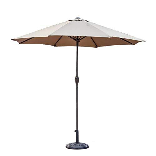 Pkfinrd parasols 9 feet buitenpatio markt tabel paraplu met kast, beweegbare zonnebescherming voor tuin dek achtertuin zwembad Side, (khaki) (kleur: wit, maat: Ø 9 ft / 270 cm)