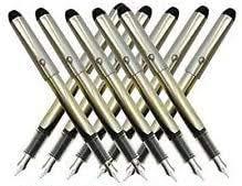 Pilot V Pen (Varsity) Disposable Fountain Pens, Black Ink, Small Point Value Set of 10