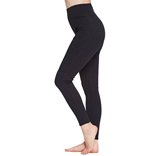 SANANG Women's 2mm Neoprene Wetsuit Pants Diving Snorkeling Scuba Surf Canoe Long Pants (Black, X-Large(Waist 29.1''))