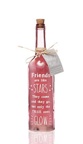 Boxer SB1104 -botella con texto en inglés, de cristal, rosa
