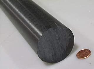 Black Acetal POM Round Rod, Delrin, 2.25