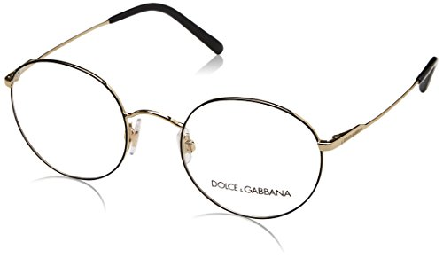 Dolce&Gabbana DG1290 Eyeglass Frames 1305-48 - Matte Black/Pale Gold DG1290-1305-48
