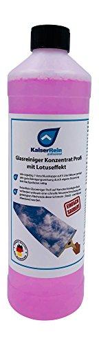 KaiserRein Glasreiniger Konzentrat mit Lotuseffekt 1L unser Profi Fenster-Reiniger I Fenstersauger geeignet I streifenfrei für Glas Fenster und Spiegel