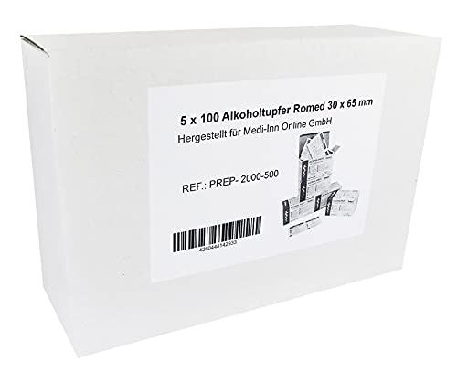 Tamponi Alcool 30 x 65 mm Tampone Alkoholpads Diversi Quantità (500 Pezzi)
