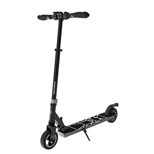 Swagtron SG-8 Swagger 8 Folding Electric Scooter for Kids & Teens | Lightweight E-Scooter for Young Adults w/Kick-to-Start, Cruise Control | Adjustable Stem, Suspension, Quiet Motor (IPX4) (Gray)