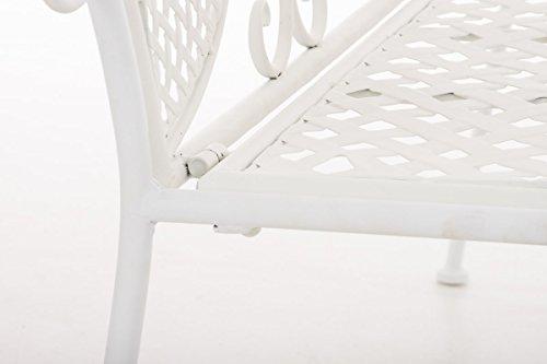 CLP Metall-Gartenbank TJURE im Landhausstil, Eisen lackiert, ca. 140 x 60 cm Weiß - 7