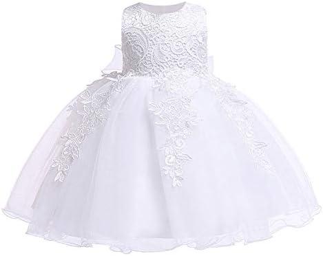 LZH Baby Girls Birthday Dress Wedding Party Flower Dress 5801 White 6M product image