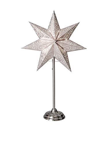 Star Antique Standleuchte, Papier, Weiß, 55 x 34 cm