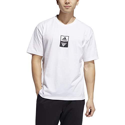 adidas - Camiseta deportiva básica para hombre, color blanco, talla M