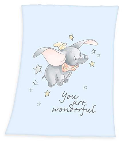 Disney´s Dumbo Flanell Flauschdecke Babydecke Kuscheldecke 75x100 cm