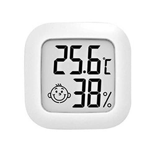 SENZHILINLIGHT Mini termómetro interior digital LCD sensor de temperatura humedad medidor termómetro higrómetro habitación