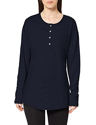 Schiesser Mix & Relax Shirt 1/1 Arm Haut De Pyjama, Bleu (Nachtblau 804), 40 (Taille Fabricant: 038) Femme