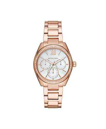 Michael Kors Women's Janelle Multifunction Rose Gold-Tone Stainless Steel Watch MK7095