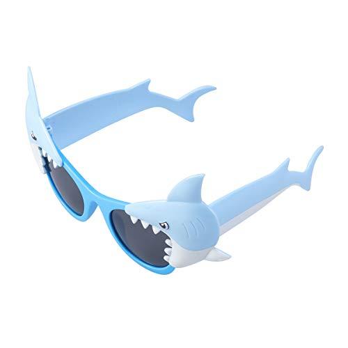 Amosfun Blue Ocean Shark Sonnenbrillen Party Sonnenbrillen verkleiden Sich Brillen für Kinder Geburtstag Urlaub Party Kids Party Favor - schöne Brille ausgefallene Brille