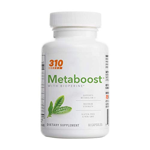 Metaboost with Green Tea, Chromium and Capsicum by 310 Nutrition - Vegan Ingredients – May Help Increase Calories Burned During and After Workouts - Supports Metabolism – Weight Management