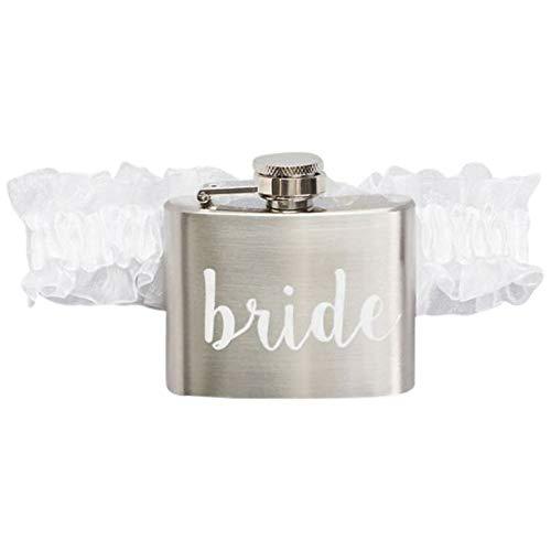 Bride Flask Garter Style SPBP529, White