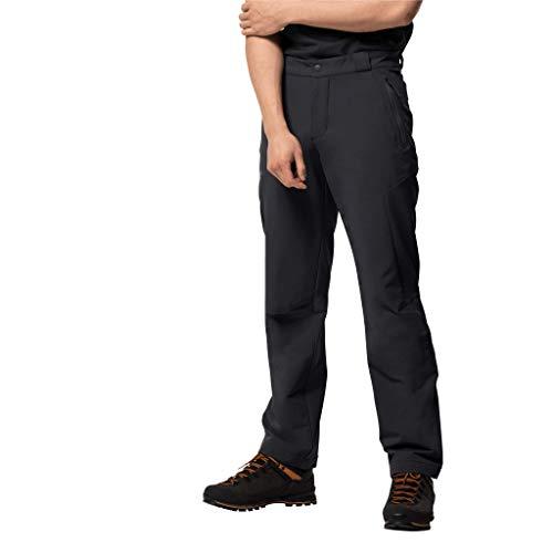 Jack Wolfskin Herren ACTIVATE THERMIC PANTS MEN elastische Softshellhose, black, 48