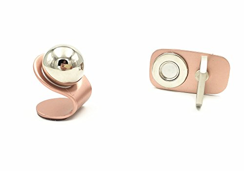Magnetic Phone Holder Finger Grip,2 in 1 Premium Car Dash Mount Holder 360-Degree Rotation Finger Ring with Stand for All Size of Phones (Rose gold)