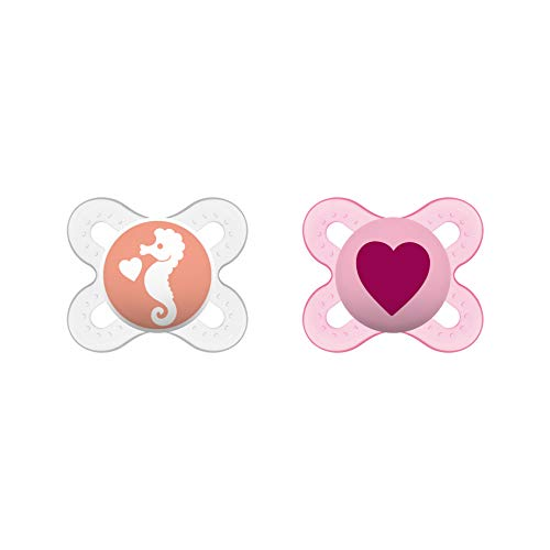 MAM Start Silicone Dummies Pack of 2 for Ages 0 - 2 Months