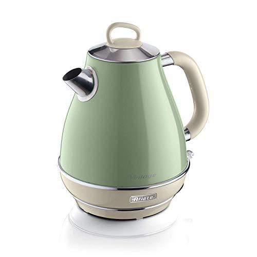 Ariete 2869/04 Vintage Wasserkocher, lackiertes Edelstahl, 1.7 liters, Grün