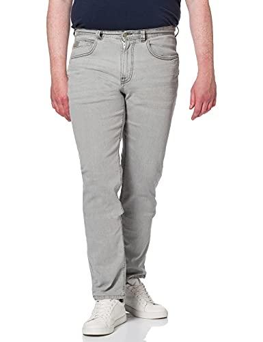 Springfield Jeans Slim Lavado Pantalones, Gris Claro, 30