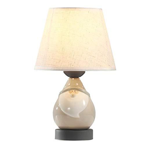 Lámpara de mesa de servicio Lámpara de mesa de noche cálida nórdica simple moderna moderna de cerámica de cerámica de tela de tela lámpara lámpara de mesa dormitorio sala de estar lámpara Lámpara de e