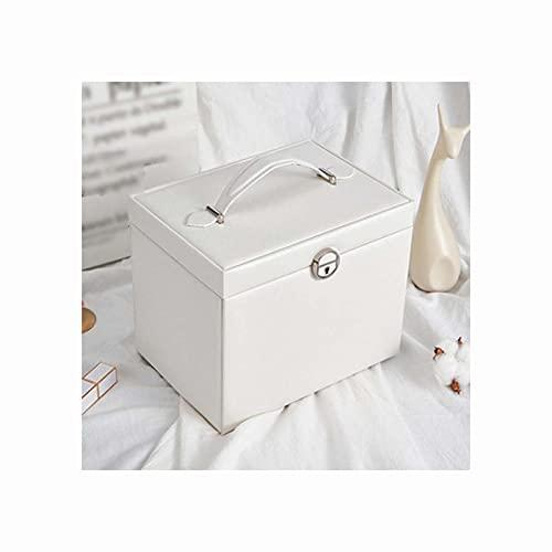 LQIAN Caja Joyero Caja de Joyas,Pendientes,Anillos y Collares joyero con Cerradura