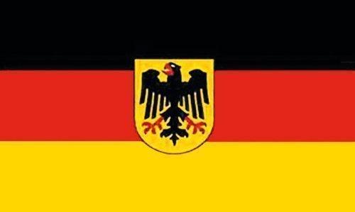 Flaggenking Deutschland Fahne mit Adler - wetterfest, weiß, 150 x 90 x 1 cm, 16960