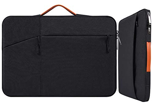 "11-12.9 Inch Waterproof Laptop Sleeve Briefcase with Handle Pocket for Acer R11 Chromebook, Samsung Chromebook 11.6, Google Pixelbook 12.3"", Lenovo Yoga 710/Dell Inspiron Asus HP Carrying Case, Black"