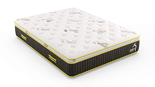 """Mango Firm Twin Natural Mattress /12.5"""" Hybrid Latex/Organic Cotton/Bed-in-a-Box/Made in USA"""