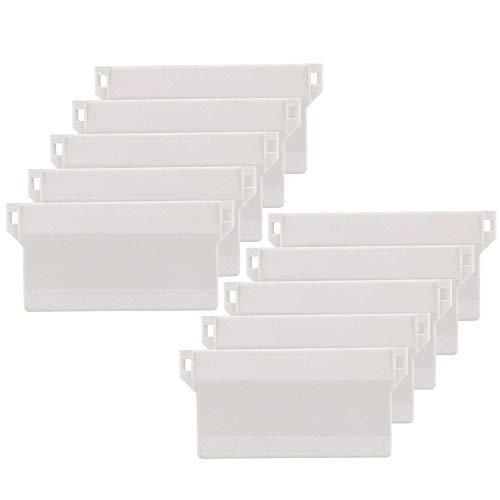 The Bead Shop Vertikale Jalousien Ersatzteile - Beschwerungsplatten Gewicht für Lamellenvorhang Stofflamellen Breite 89 mm Weiß (10 Stück)