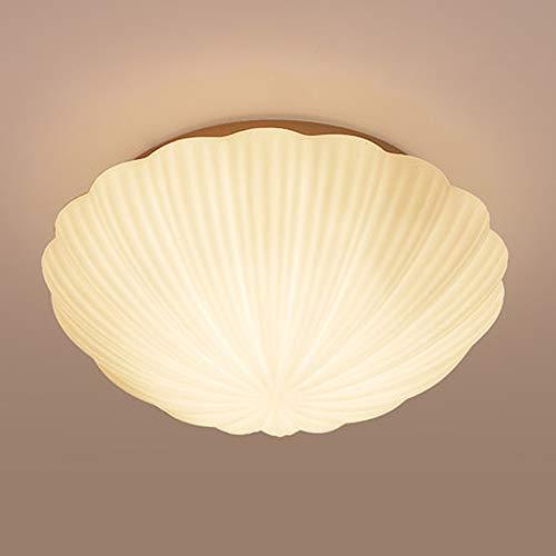 LCNINGXDD Moderne Glas Deckenleuchte Unterputz Zeitgenössische Led Dimmable Kreative Muschel Kronleuchter für Wohnzimmer Schlafzimmer Flur (Farbe : Stepless dimming, größe : 35cm-24W)