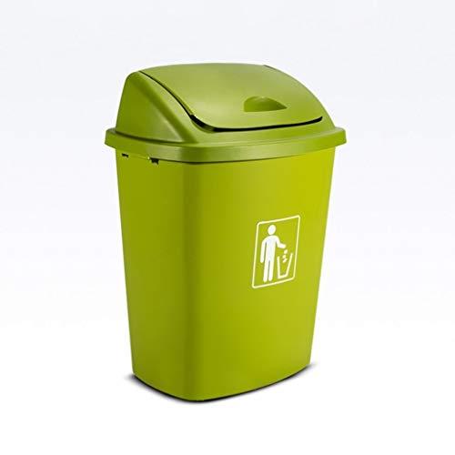 JIAHE115 Grote vuilnisbak 30L Huishoudelijke Keuken Grote vuilnisbak Met Deksel Grote Capaciteit Shake Cover vuilnisbak Buiten Overdekte Prullenbak, Maat: 36X27.5X49cm Huishoudelijke decoratieve opbergbak
