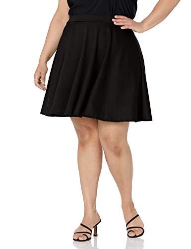 Star Vixen Women's Plus-Size Short Skater Skirt, Black, 2X