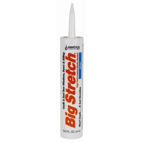 Sashco 10016 10.5oz 10016 Big Stretch Caulk 10.5-Ounce Cartridge, White