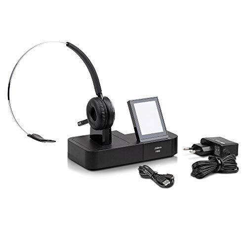 Jabra PRO 9465 Mono Wireless DECT Headset, Basisstation mit Touchdisplay, bis 150m, Neuer Akku