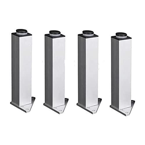 SHOP YJX 4 piezas muebles tazas 120mm ajustable triángulo base plata aleación de aluminio muebles patas gabinete sofá pies hogar accesorios