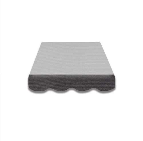 Home & Trends Markisen Volant Markisenbespannung Ersatzstoffe Mehrfarbig Maße 4 x 0.23 m Markisenstoffen fertig genäht mit Bordeux Dunkelgraun (SPD016)