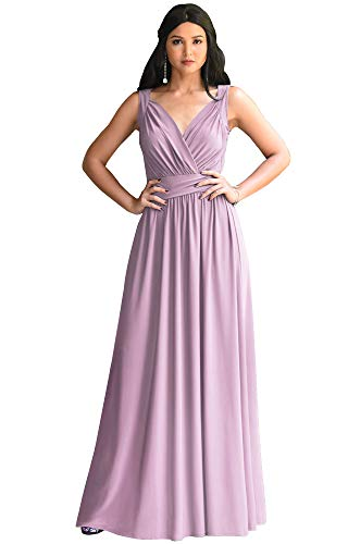 KOH KOH Plus Size Womens Long Sleeveless Flowy Bridesmaids Cocktail Party Evening Formal Sexy Summer Wedding Guest Ball Prom Gown Gowns Maxi Dress Dresses, Dusty Pink 3XL 22-24