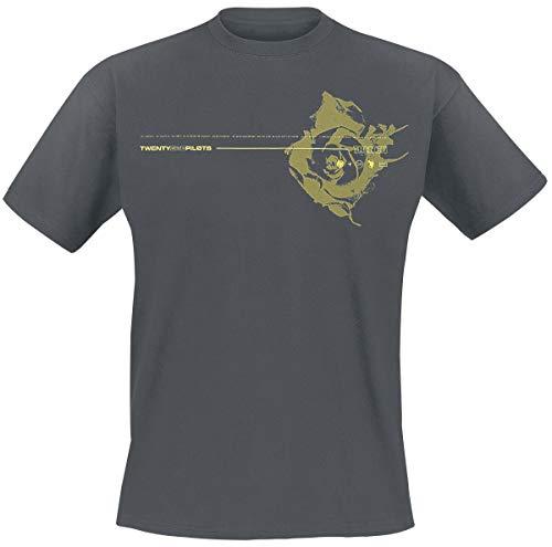 Twenty One Pilots Yellow Rose Hombre Camiseta Ceniza/Negro M, 100% algodón, Regular