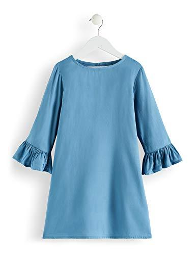 Amazon-Marke: RED WAGON Mädchen Kleid mit Rüschen, Türkis (Blue Heaven), 104, Label:4 Years