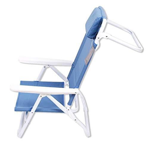 XYZMDJ Portable Office Pausa Pranzo Sedia a Sdraio, Heavy Duty Regolabile Resistente reclinabile Sedia Pieghevole Outdoor Indoor Garden Pool