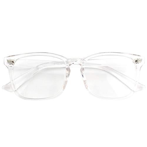 CN92 Klassische Nerdbrille rund Keyhole 40er 50er Jahre Pantobrille Vintage Look clear lens, A Transparent, 53