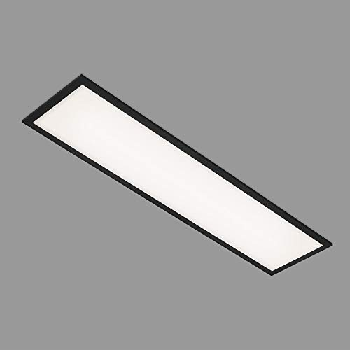 Briloner Leuchten - Panel LED, lámpara de techo LED, plafón de 22 vatios, 2200 lúmenes, 4000 Kelvin, blanco-negro, 1000x250x60 mm