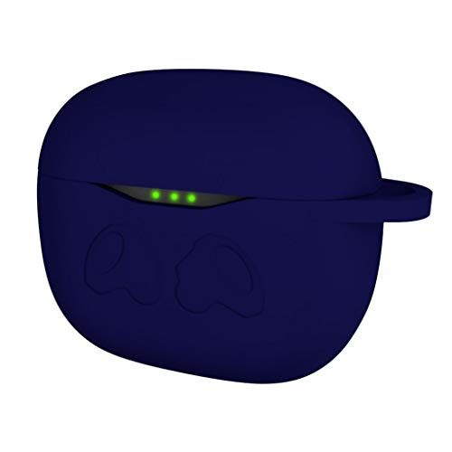 Hülle Silikon Kompatibel mit JBL Tune T120 TWS Wireless in-Ear Bluetooth Kopfhörer, Abdeckung Gehäuse [Front-LED Sichtbar] Stoßfestes Schutzhülle für JBL Tune T120TWS Ladecase (Blau)