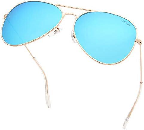 livho Classic Polarized Aviator Sunglasses UV Mirrored Lens Metal Retro Shades for Kids Boys product image