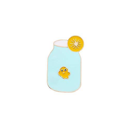 WYKDOY Brosche Broschen und Stifte Cartoon Kaffeetasse Milchsaft Flasche Emaille Pin Nette Schwein Kunst Mädchen Auge Benutzerdefinierte Abzeichen Frauen Schmuck für Kinder Geschenk China Stil 7