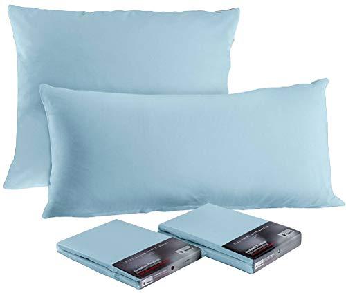 Dormabell Kissenbezug, Premiumqualität Made in Germany, passend für Kissen in Größe 40 x 80 cm | Farbe: hellblau