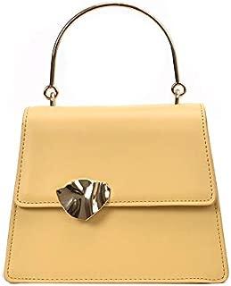 TOOGOO Leather Chain Messenger Bag Ladies Summer Handbag Metal Handle Phone Wallet And Handbag White